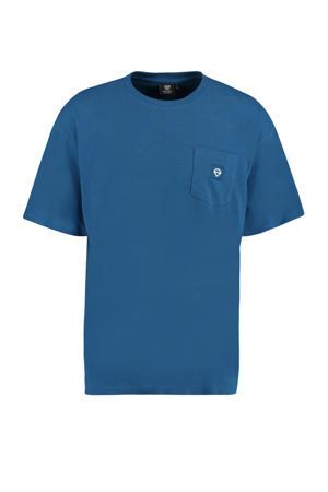 slim fit T-shirt Enter van biologisch katoen atlantic
