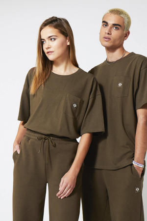 T-shirt Enter faded brown