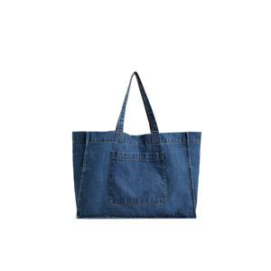 denim shopper blauw