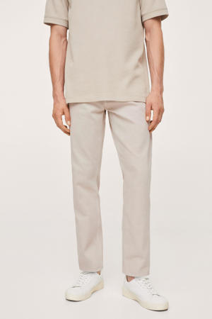 tapered fit jeans lichtbeige