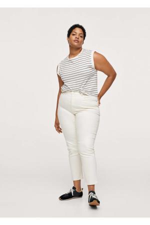 high waist skinny broek naturel wit