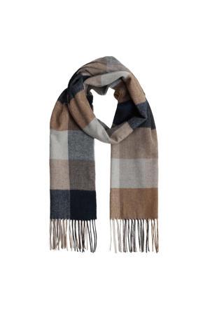 geruite sjaal bruin