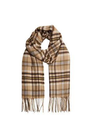 geruite sjaal beige