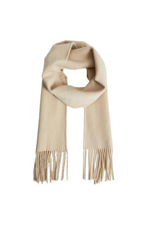 wollen sjaal beige