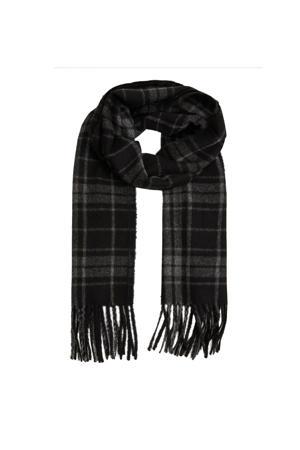 geruit sjaal grijs