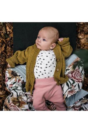 baby wollen vest goudkleur