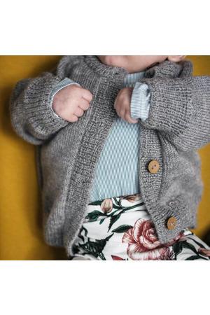 baby wollen vest grijs