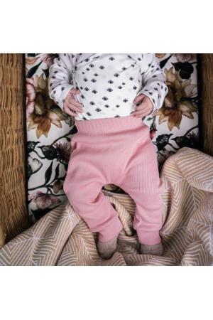 baby slim fit broek roze