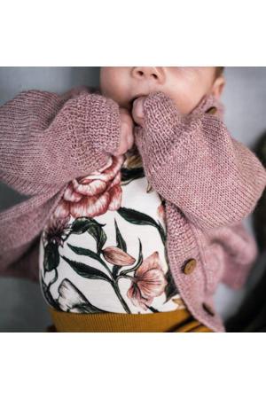 baby wollen vest oudroze