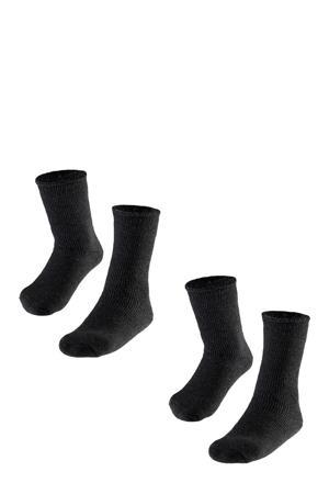 thermo sokken - set van 2 antraciet