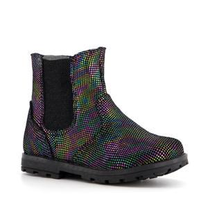 leren chelsea boots zwart/multi
