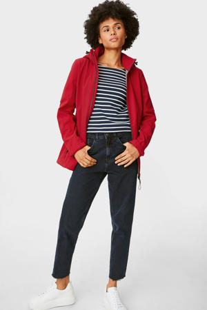 softshell jas met patches rood
