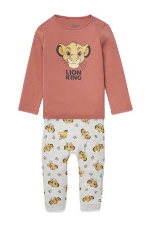baby pyjama van biologisch katoen roodbruin