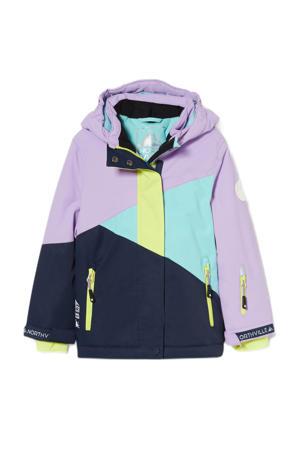 ski jack lila/donkerblauw