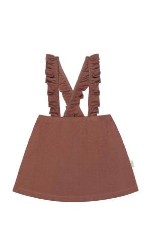 jurk met biologisch katoen bruin