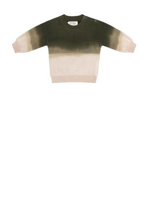 dip-dye sweater groen/ecru