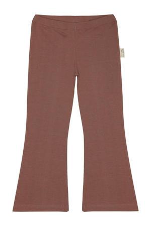 flared broek met biologisch katoen rood