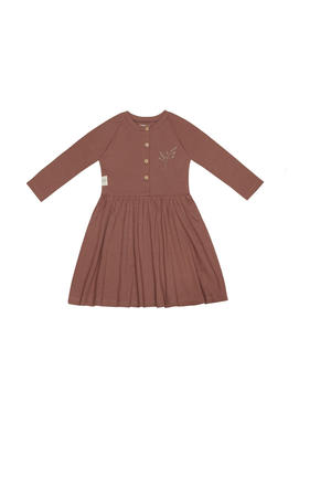 jurk met biologisch katoen oudroze