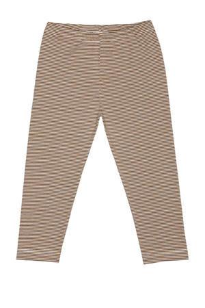 gestreepte legging met biologisch katoen bruin/wit