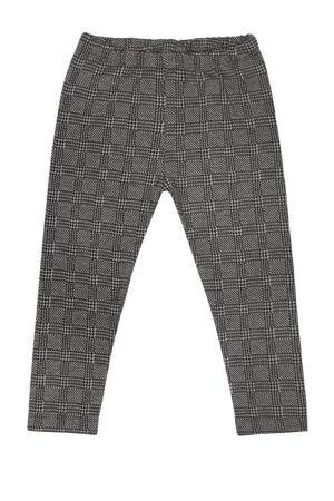 geruite legging met biologisch katoen grijs