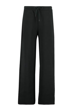 gemêleerde wide leg broek zwart