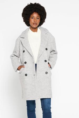 coat met wol lichtgrijs