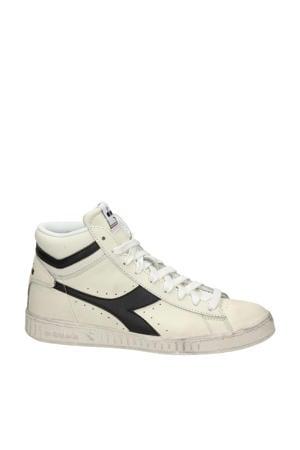 Game L High  hoge leren sneakers off white/zwart