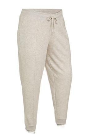 regular fit sweatshort van gerecycled polyester beige