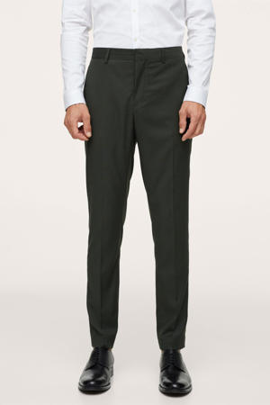 super skinny pantalon donkergroen