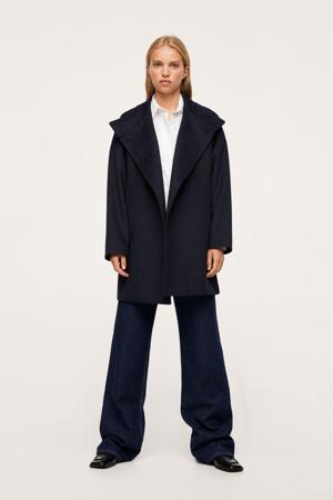 wollen  coat marine