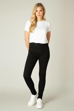 high waist skinny jeans Fay zwart