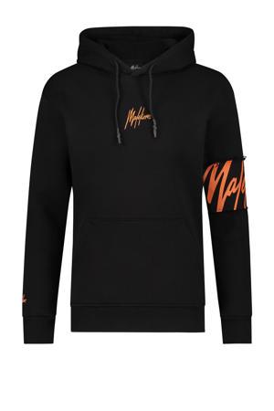 hoodie Captain met logo black/orange