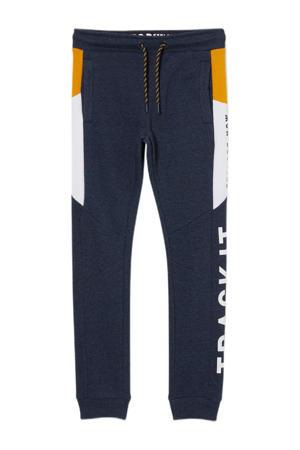 regular fit broek blauw