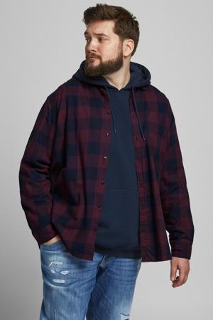 geruit regular fit overhemd JJEGINGHAM Plus Size port royale