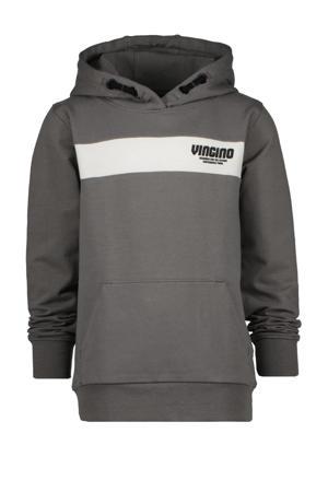 hoodie Naud met logo grijs/wit