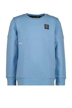 sweater Nacho met logo lichtblauw