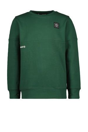 sweater Nacho met logo donkergroen