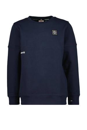 sweater Nacho met logo donkerblauw
