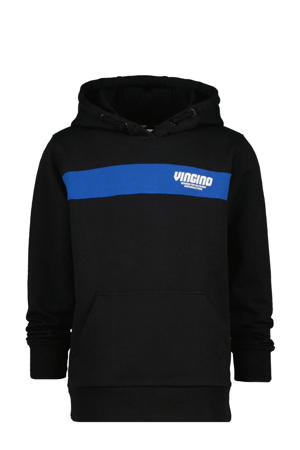 hoodie Naud met logo zwart/blauw