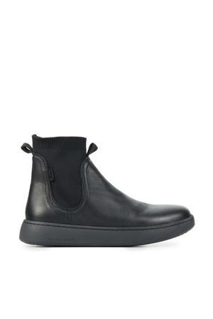 Taylor  leren chelsea boots zwart