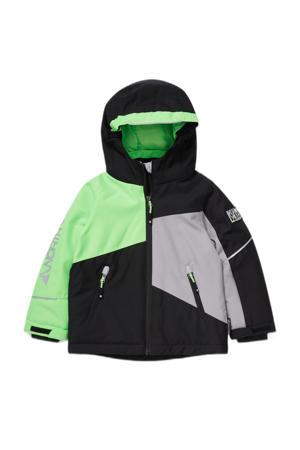 ski-jack zwart/groen