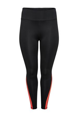 Plus Size sportlegging ONPAGNE zwart/rood