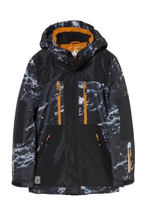 Ski jas zwart/oranje