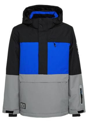 C&A ski-anorak Northville blauw/grijs/zwart