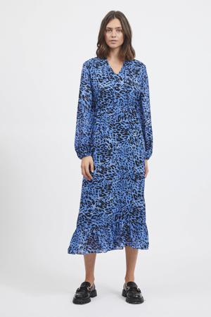 jurk VILEOA van gerecycled polyester blauw