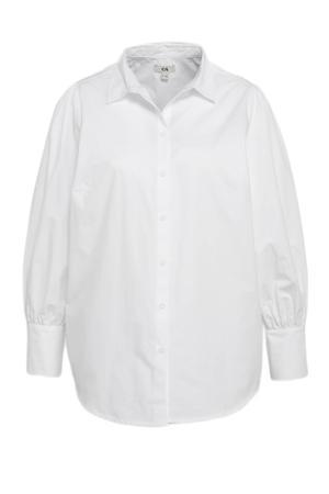 blouse met plooien wit