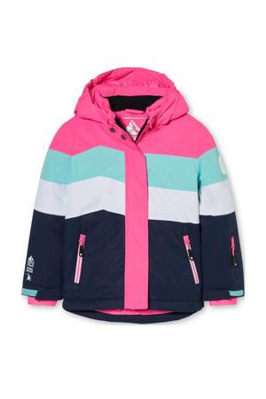 ski-jack roze/blauw