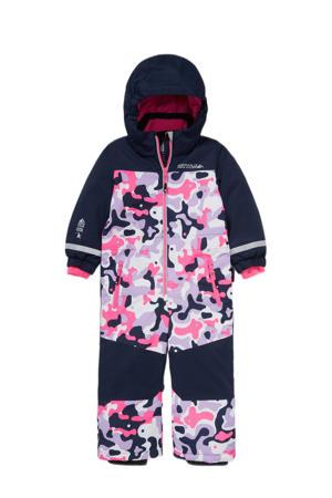 ski pak donkerblauw/roze