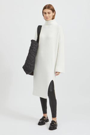 ribgebreide jurk VIRIL wit