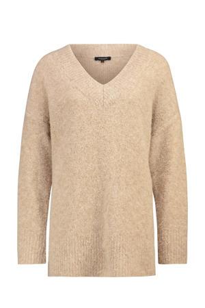 fijngebreide trui beige